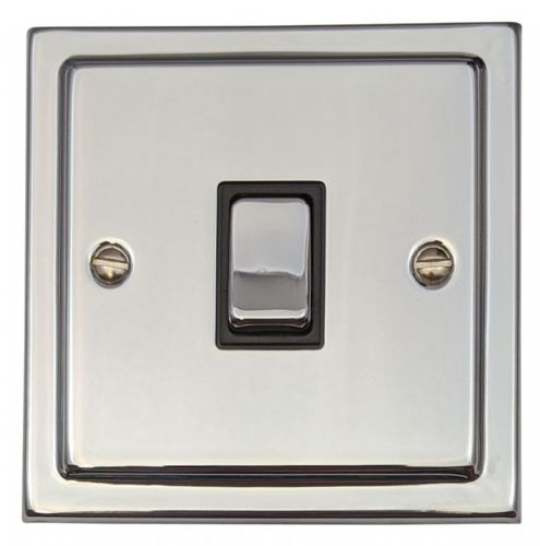 G&H TC301 Trimline Plate Polished Chrome 1 Gang 1 or 2 Way Rocker Light Switch